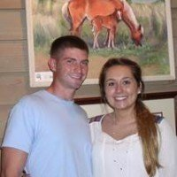 Marine Cpl. Andrew Botkin and Sarah Botkin, both of Martinsville, Ind.