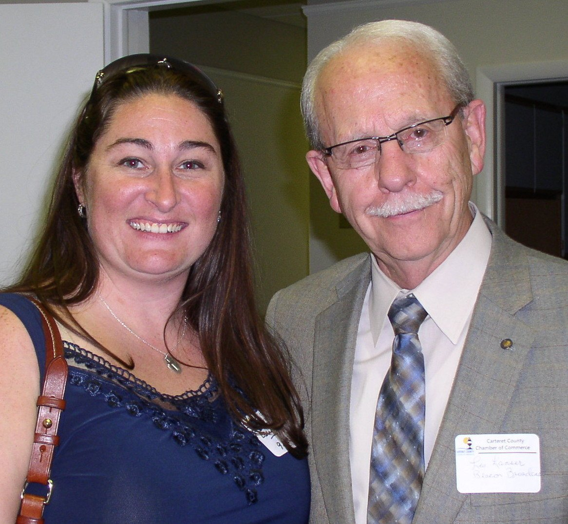 Lacy Hollister and Les Lanser, both of 92.7 The Beacon